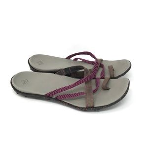 Columbia Toe Loop Strappy Slides Sandals BL4382 10